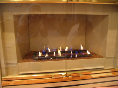 direct vent fireplace with burner