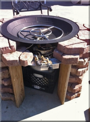 fire bowl propane burner
