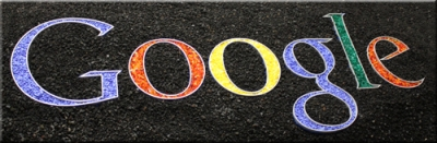 Water Jet Google Logo for fireglass fire pit